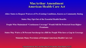 """The MacArthur Amendment to the American Health Care Act """"The Neil A. Carousso Show"""")"""