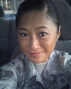 Kyung Jones in her U.S. Air Force uniform